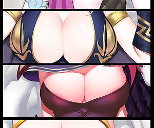 manga 光速五杀, jinx , xayah , big breasts , hentai