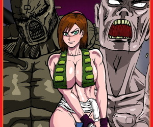 manga Jill Valentine vs Zombies and Nemesis, jill valentine , nemesis , western , big breasts