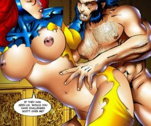 manga X-Men - part 4, superheroes , orgy