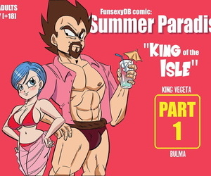 manga FunsexyDB Summer Paradise: King of the.., bulma briefs , king vegeta , western , sole female