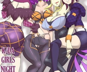manga K/DA Girls Night, ahri , evelynn , western , big breasts