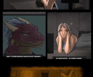 manga Argonian Nights, furry , transformation