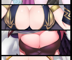 manga 光速五杀, jinx , xayah , big breasts , small breasts  league of legends