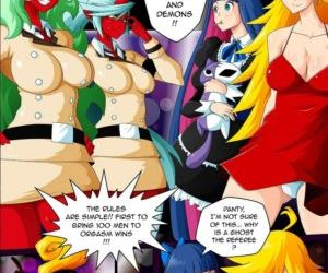 manga Panty & Stocking Angels vs Demons, breast expansion , Futanari  orgy