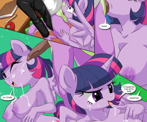 manga Sex Ed with Miss Twilight Sparkle -.., rarity , twilight sparkle , furry  western